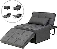 Folding Diophros Ottoman Sleeper Guest Sofa Bed