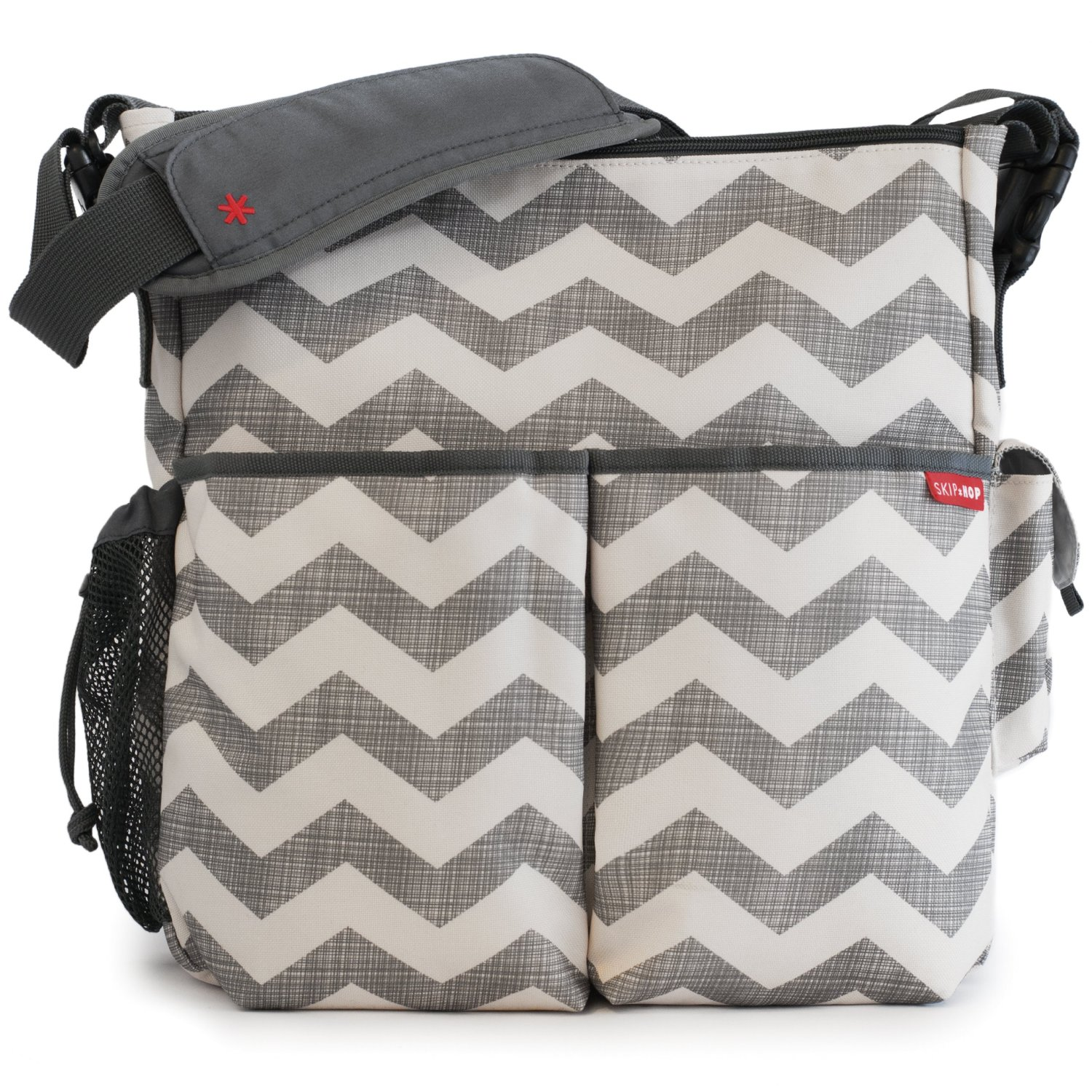 Headline for Best Chevron Diaper Bag for Boy or Girl | Grey, Pink, Blue, Navy, Purple, Black and White