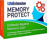 Life Extension Memory Protect, Powerful Dual Action Cognition and Memory Support, 12 Colostrinin-Lithium (C-Li) Capsu...