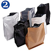 Flat Bottom Pouches With Normal Zipper - FLAT BOTTOM POUCHES