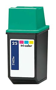Remanufactured Replacement for HP 25 (51625A) Tri-Color Ink Cartridge