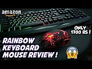 Best Rainbow Gaming Keyboard & Mouse Review ! Havit HV-KB558CM Keyboard & Mouse