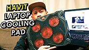 Havit 5 Fans Laptop Cooling Pad for 14-17 Inch Laptop Unboxing And Review | Cooling Pad Worth It?