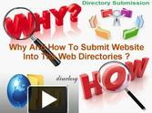 Why and How To Submit Website Into The Web Directories