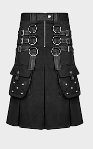 Buy Deluxe Gothic Utility Kilt for sale in discounted price.