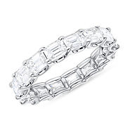 EASTWEST EMERALD CUT DIAMOND ETERNITY BAND