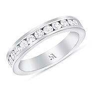 Channel Setting Diamond, Wedding Band | Gold, White Gold, Rose