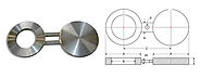 Stainless Steel Spectacle Blind Flanges manufacturer in India - Akai Metals