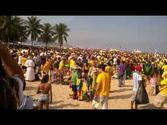 Copacabana Beach before the game of Brazil in 2014 FIFA World Cup Brasil™.
