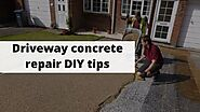 Driveway concrete repair DIY tips - concrete work contractors near You in NYC