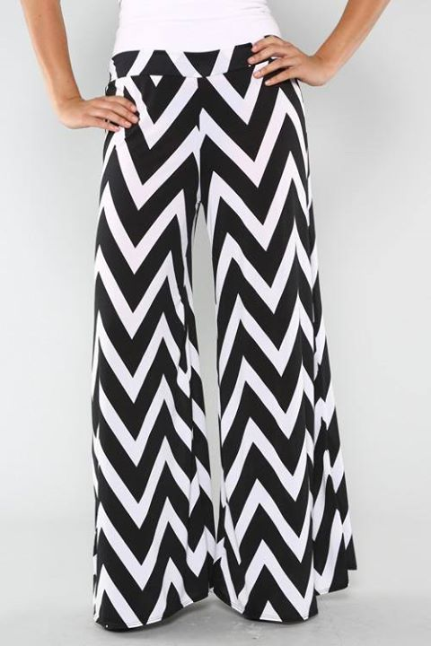Headline for Best Chevron Palazzo Pants | Fun Chevron Wide Leg Pants