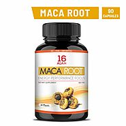 16 Again Maca Root Extract Dietary Supplement 90 Veg Capsules of 800 mg (Pack of 1)