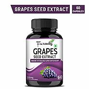 Farmity Grape Seed Extract Capsules for Immune System Support - 500mg 60 capsules