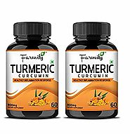 Farmity Turmeric Curcumin with Bioperine (Dietary Supplement) Supports in healthy Inflammation Response| Healthy Join...