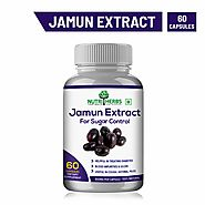 Nutriherbs Natural And Organic Jamun Seed Extract | Supports Sugar Control | Helps in Detoxification | Act as Blood P...