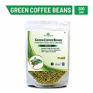 Nutriherbs Green Coffee Beans Decaffeinated & Unroasted Coffee Beans for Weight Management (Pack of 1-200 Gms)