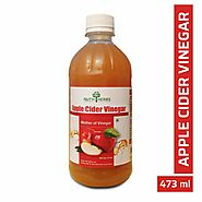 Nutriherbs Natural Organic Raw Apple Cider Vinegar (Sirka) With The Mother | Weight Management- 473 ml
