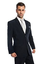 Find a stylish 2 button suit for men