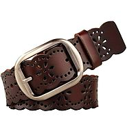 Women's leather belt-Genuine cowhide belt hollow flower-Jasgood – JASGOOD OFFICIAL