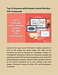 Top 10 Features which makes Laravel the Best PHP Framework
