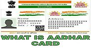Aadhar card:what is aadhar Card,benefit of Aadhaar card in India