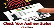 Aadhaar Card: Check Online Update Status at UIDAI Website uidai.gov.in