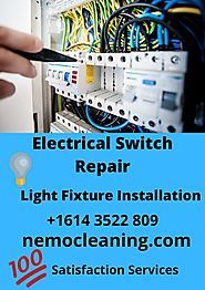 Electrical Switch Repair Services near me | Light Fixture Installation