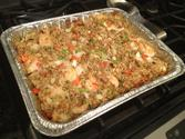 Crab & shrimp casserole