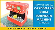 How to Make Coca Cola Soda Dispenser at Home out of Cardboard - FREE Sticker Templates!