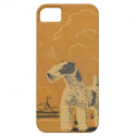 Vintage Art Deco Christmas-Festive Doggie iPhone 5 Cases from Zazzle.com