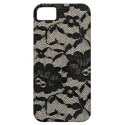 black lace vintage retro iphone iPhone 5 cover from Zazzle.com