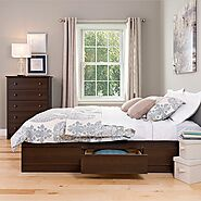 Prepac Manhattan Storage Espresso Queen Platform Bed Frame