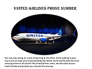 United Airlines Phone Number | Special Discount
