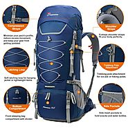 MOUNTAINTOP 70L Internal Frame Hiking Backpack