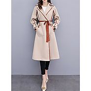 Burberry Wrap Coat In Beige Outlet Burberry Cheap Sale Store