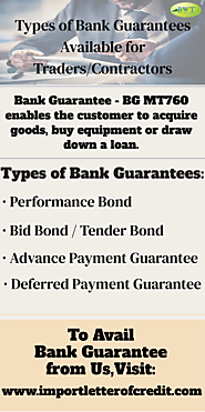 Infographics: Types of Bank Guarantees - BG Providers