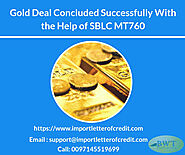 Gold Deal Concluded With the Help of SBLC MT760