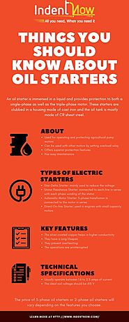 Things You Should Know About Oil Starters