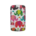Colorful elephant kids pattern blackberry case from Zazzle.com
