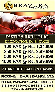 ENJOY HASSLE FREE PARTY WITH THE BEST AMBIANCE & FACILITIES AT BRAVURA GOLD RESORT.