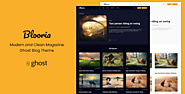 Blooria - Modern and Clean Magazine Ghost Blog Theme by electronthemes