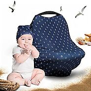 Cool Beans Baby Car Seat Canopy and Breastfeeding Nursing Cover