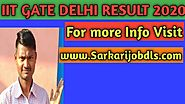 IIT DELHI GATE RESULTS 2020,Graduate Aptitude Test GATE Result 2020