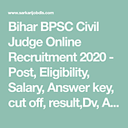 Bihar BPSC Civil Judge Online Recruitment 2020
