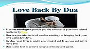 Dua For Lover To Come Back - Best Dua For Lover in Islam