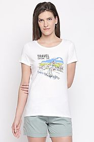 Honey Women Graphic Printed White T Shirt - Selling Fast at Pantaloons.com