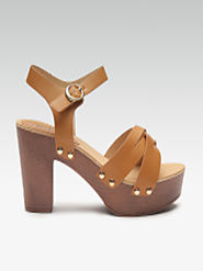 Buy Carlton London Women Tan Brown Solid Platform Heels - Heels for Women 10860544 | Myntra