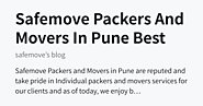 Safemove Packers And Movers In Pune Best Services - safemove's blog