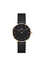 Buy DANIEL WELLINGTON Womens Classic Petite Ashfield Rose Gold Watch - DW00100201 | Shoppers Stop