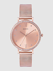 Buy GUESS Women Rose Gold Toned Analogue Watch W1154L2 - Watches for Women 11035964 | Myntra